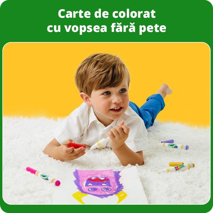 Crayola carte de colorat cu vopsea fără pete