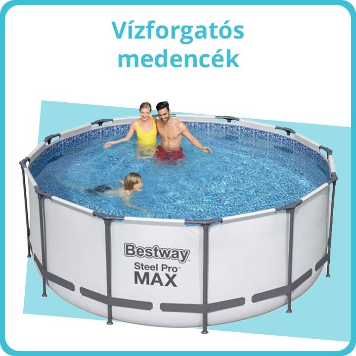 Vízforgatós medencék