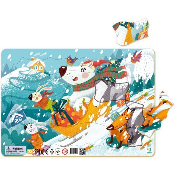 Dodo: Karácsonyi kaland keretes puzzle - 53 darabos
