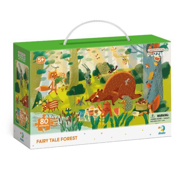 Dodo: Figyeld meg! Mesés erdő puzzle - 80 darabos