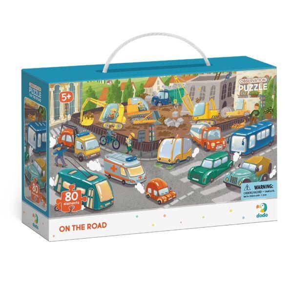 Dodo: Figyeld meg! Városi közlekedés puzzle - 80 darabos