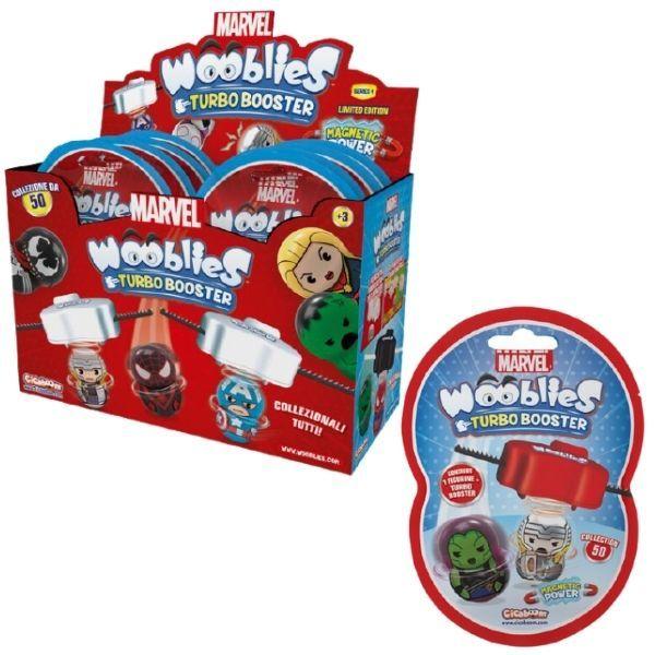 Wooblies Marvel meglepetés csomag, 1 db figura kilövővel