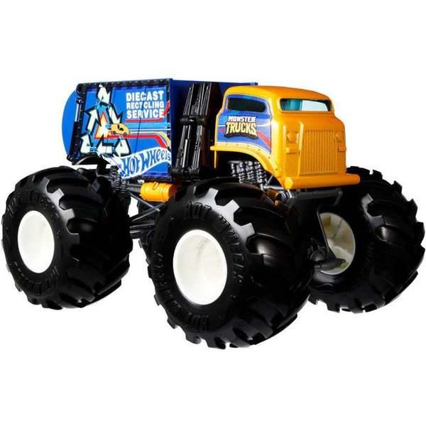 Hot Wheels: Monster Trucks - Szelektív kukásautó, 1:24