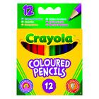 Crayola 12 db félhosszú extra puha színes ceruza 04112
