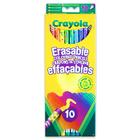 Crayola: 10 buc. creioane colorate cu radieră