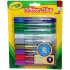 Crayola: Lipici cu sclipici - lavabil, 9 buc.