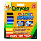 Crayola: 8 db lemosható vastag filctoll fehér táblára