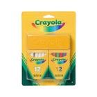 Crayola: 2 x 12 db pormentes kréta törlővel