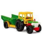 Wader Traktor billenő utánfutóval - 39 cm-es