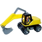 Excavator galben-negru cu şofer - 36 cm