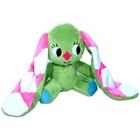 Iepurașul cu urechi cu carouri: figurină de pluș șezând - 15 cm