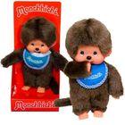 Păpuşă Monchhichi băiat cu baveţică albastru - 20 cm