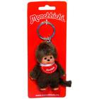 Monchhichi - Breloc figurină băieţel cu baveţică roşie - 10 cm