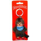 Monchhichi - Breloc figurină băieţel cu baveţică albastru - 10 cm