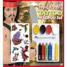 Kalóz tetováló matricák és arcfesték