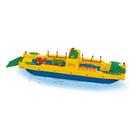 Autószállító komp nagy műanyag játékhajó- 50 cm-es
