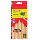 Herlitz: creioane colorate - 12 buc., natural