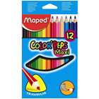 MAPED: Color Peps Maxi színes ceruza készlet - vastag, háromszögletű, 12 db