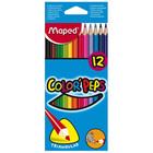 MAPED: Színes ceruza készlet - háromszög alakú, 12 db