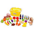 Coş cumpărături cu produse alimentare