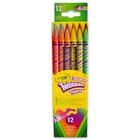 Radírvégű, csavarozható színes ceruza, 12 db
