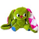 Iepurașul cu urechi cu carouri: figurină de pluș șezând - 10 cm