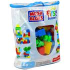 Mega Bloks - 60 buc. cuburi de construcţii în gentuţă - culori clasice