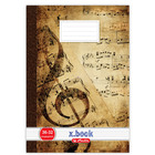 Xbook A5-ös hangjegy füzet - barna, 36-32