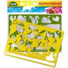LENA: 2 db-os rajzolósablon - háziállatok