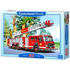 Tűzoltó autó puzzle - 60 darabos