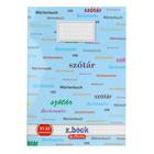 Xbook A5-ös szótárfüzet - kék, zöld, 31-32