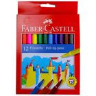 Faber-Castell színes filctoll készlet - 12 darabos