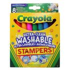 Crayola: kimosható filctoll nyomda - 8 darabos