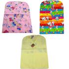 Husă haine pentru grădiniţă - roz cu animale pluş, pentru fetiţe