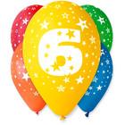 Set cu 5 baloane colorate cu cifra 6