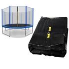 Spartan: Plasă protecție pentru trambulină de 396 cm - 4 picioare, 8 stâlpi