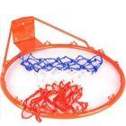 Spartan: Fém kosárlabda gyűrű hálóval 45 cm-es