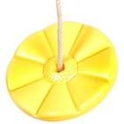 Sharky Leagăn tip farfurie cu model floare, cu frânghie și inel - galben