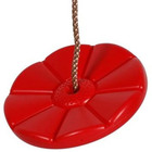 Sharky Virág tányérhinta kötéllel, karikával, piros