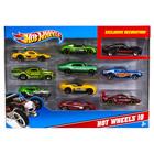 Hot Wheels 10 darabos kisautók játékszett