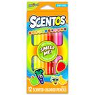 Scentos: Creioane colorate parfumate - 12 buc, culori luminoase