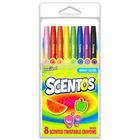 Scentos: Illatos 8 darabos csavarozható zsírkréták - élénk színek