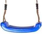 Műanyag hintaülőke kötéllel karikával, kék