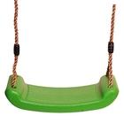 Műanyag Hintaülőke kötéllel és fém karikákkal, almazöld