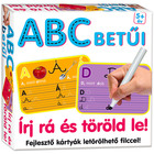Literele alfabetului: cărţi educative cu markere lavabile - în. lb. maghiară