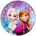 Prinţesele Disney: Frozen farfurie carton 23 cm - 8 buc.