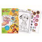 Crayola: Carte de colorat cu stickere - Patrula căţeluşilor