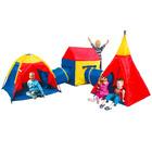 Iplay Set gigant cu trei corturi şi 2 tunele