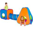 Iplay Cort dublu pentru copii cu tunel - pop-up