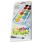 Creative Jungle 12 színű vízfesték készlet - kifestővel